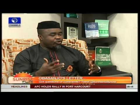 Jonathan Should Reply Obasanjo With Performance- Legal Practitioner Pt1