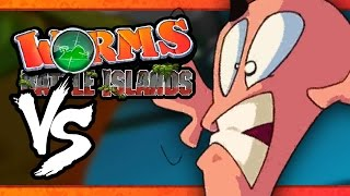 VS MODE: Worms: Battle Islands - Diving Dongle (Part 1) (3-Player)