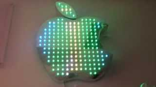 Пиксельное яблоко, светодиодное яблоко, видео-вывеска, apple с видео программой. Реклама(, 2015-02-27T15:22:38.000Z)