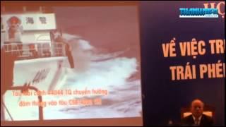 Sửa chữa tàu Cảnh sát biển VN bị tàu Trung Quốc tấn công