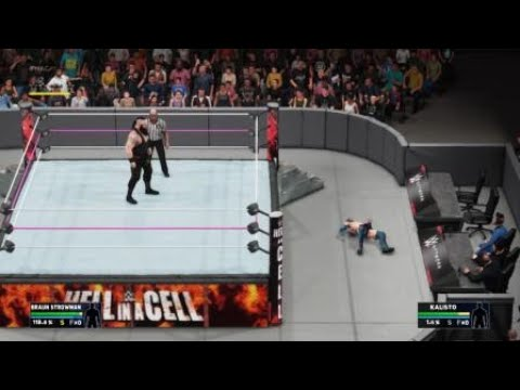 WWE 2K18 - How to catch a diving opponent easily! (And throw out of ring)
