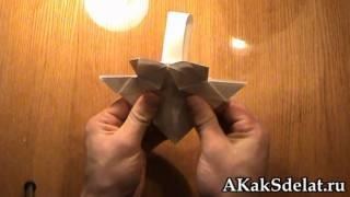 Как из бумаги сделать корзинку