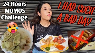 I Only Ate MOMOS For 24 HOURS Challenge | Anti climax hi ho gaya 😩