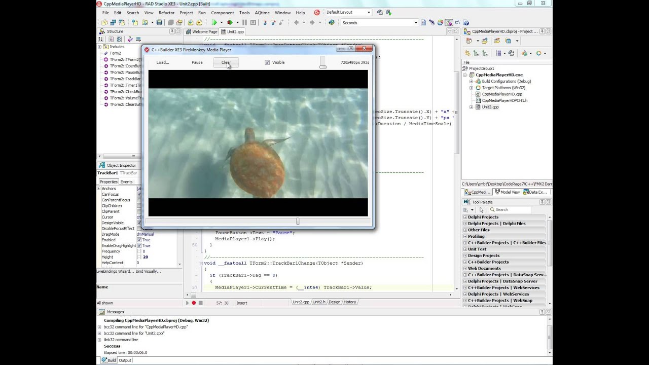 Jan 9, 2013 - Playing HD Video and Capturing Video bitmaps on Windows and  Mac using C++Builder XE3