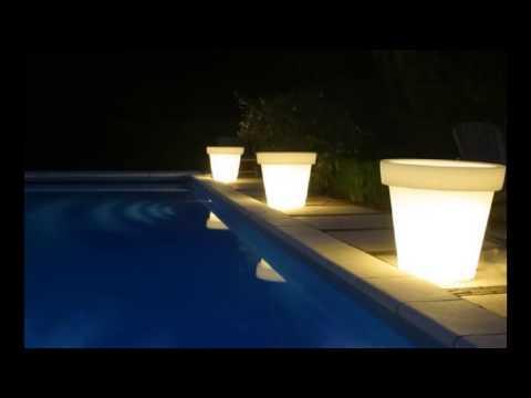 Maceteros luminosos maceteros con luz jardineras for Jardineras iluminadas