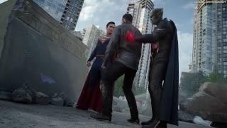 Супергёрл, Алекс, Марсианский Охотник и Супермен против двух Металло в сериале