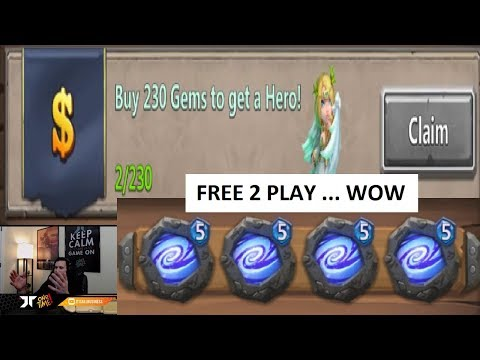 Free 2 Play LEVEL 5 Empower CREST SET INSANE SO LUCKY Castle Clash
