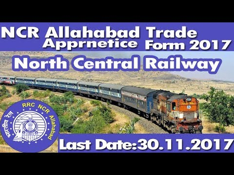 NCR Allahabad Railway 446 Posts Apprentice Online Form 2017