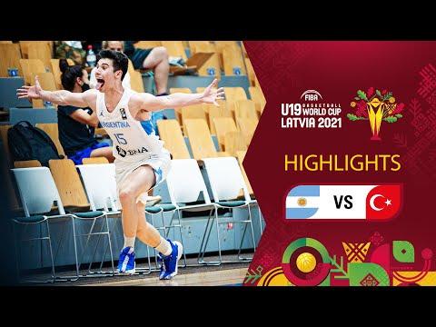 Argentina - Turkey   Full Highlights   Round of 16 - FIBA U19 Basketball World Cup 2021