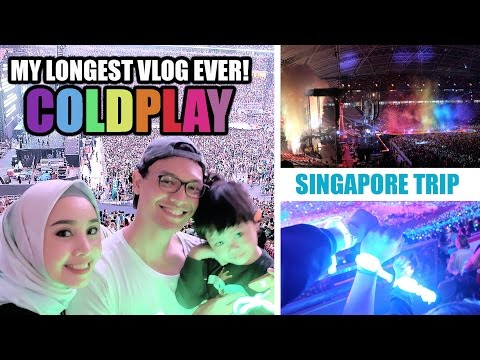 SINGAPORE VLOG DAY 3 - MY LONGEST VLOG EVER + COLDPLAY CONCERT SINGAPORE 2017 | IRNA DEWI