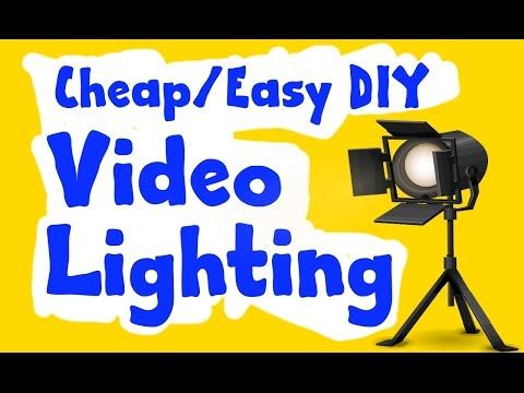 CHEAP/EASY DIY VIDEO LIGHTING