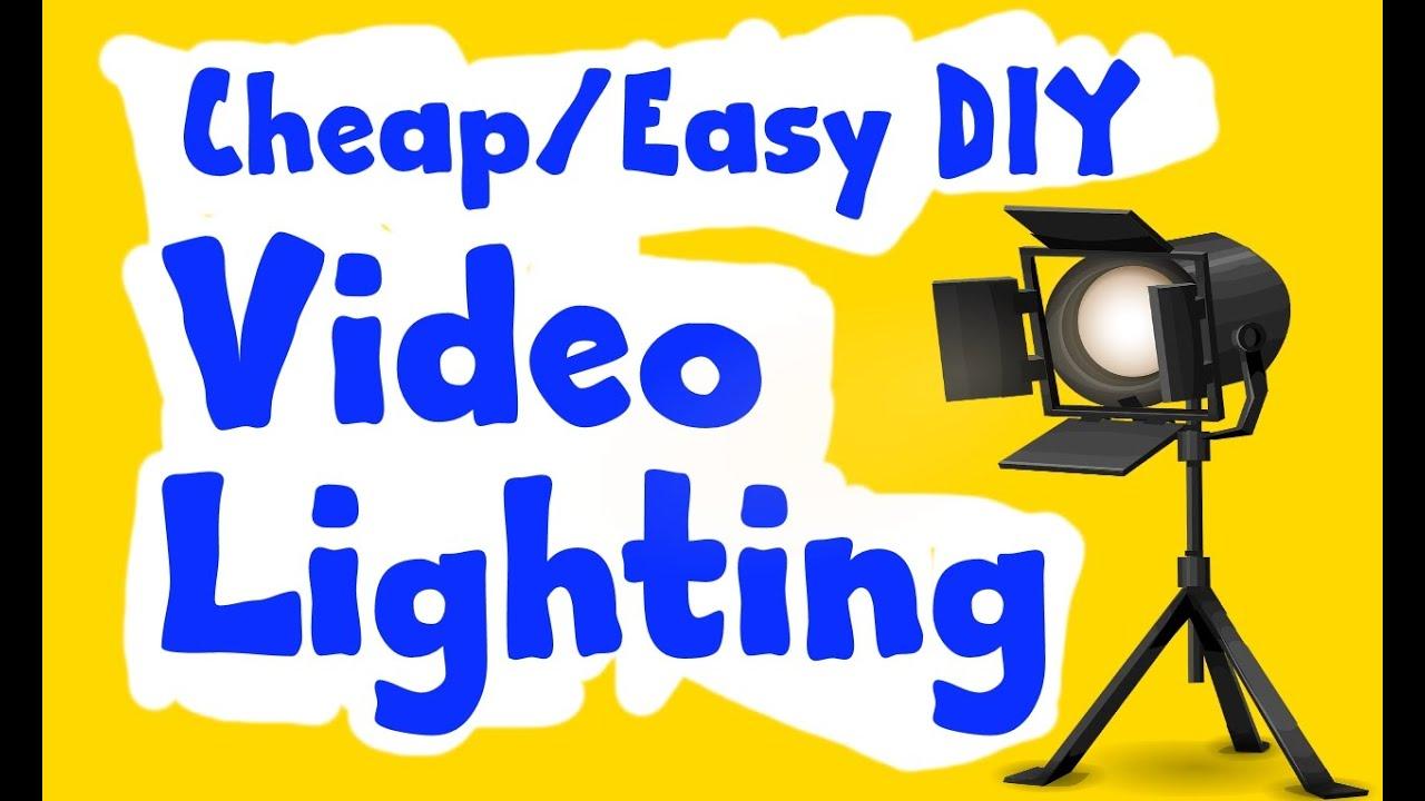 CHEAP/EASY DIY VIDEO LIGHTING - YouTube
