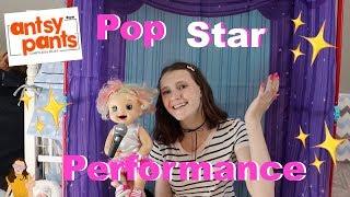 Antsy Pants Pop Star Stage & Construction Sets! Emma's Pop Performance!   Kelli Maple