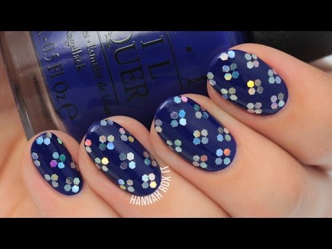 Glitter Flower Nails (great for parties, weddings, etc!)