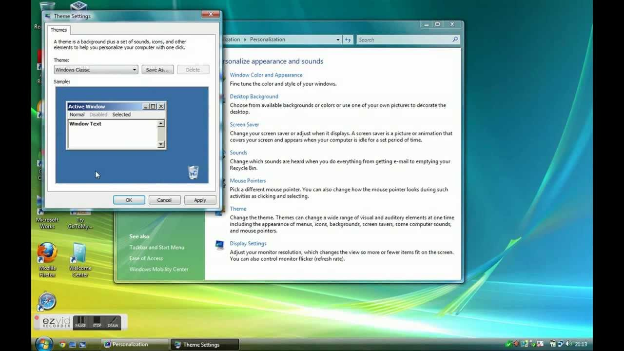 How to make Windows Vista look like Windows 95,98 - YouTube