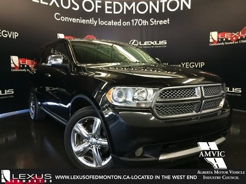 Used 2012 Black Dodge Durango 4WD Citadel Walkaround Review | Fort Saskatchewan Alberta