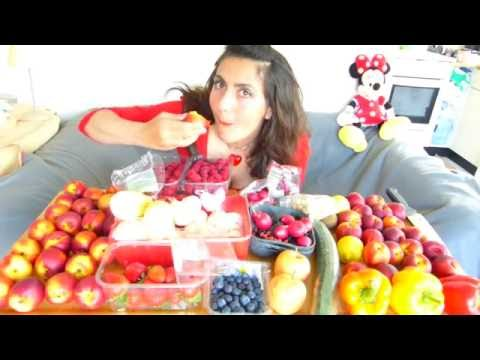 RIPE RAW JUICY FRUIT Mukbang Vegan Fruitarian & Vegetarian Eating Sounds Show ASMR Tsetsi