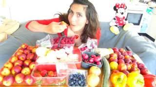 RIPE RAW JUICY FRUIT Mukbang Vegan Fruitarian & Vegetarian Eating Sounds Show ASMR Tsetsi