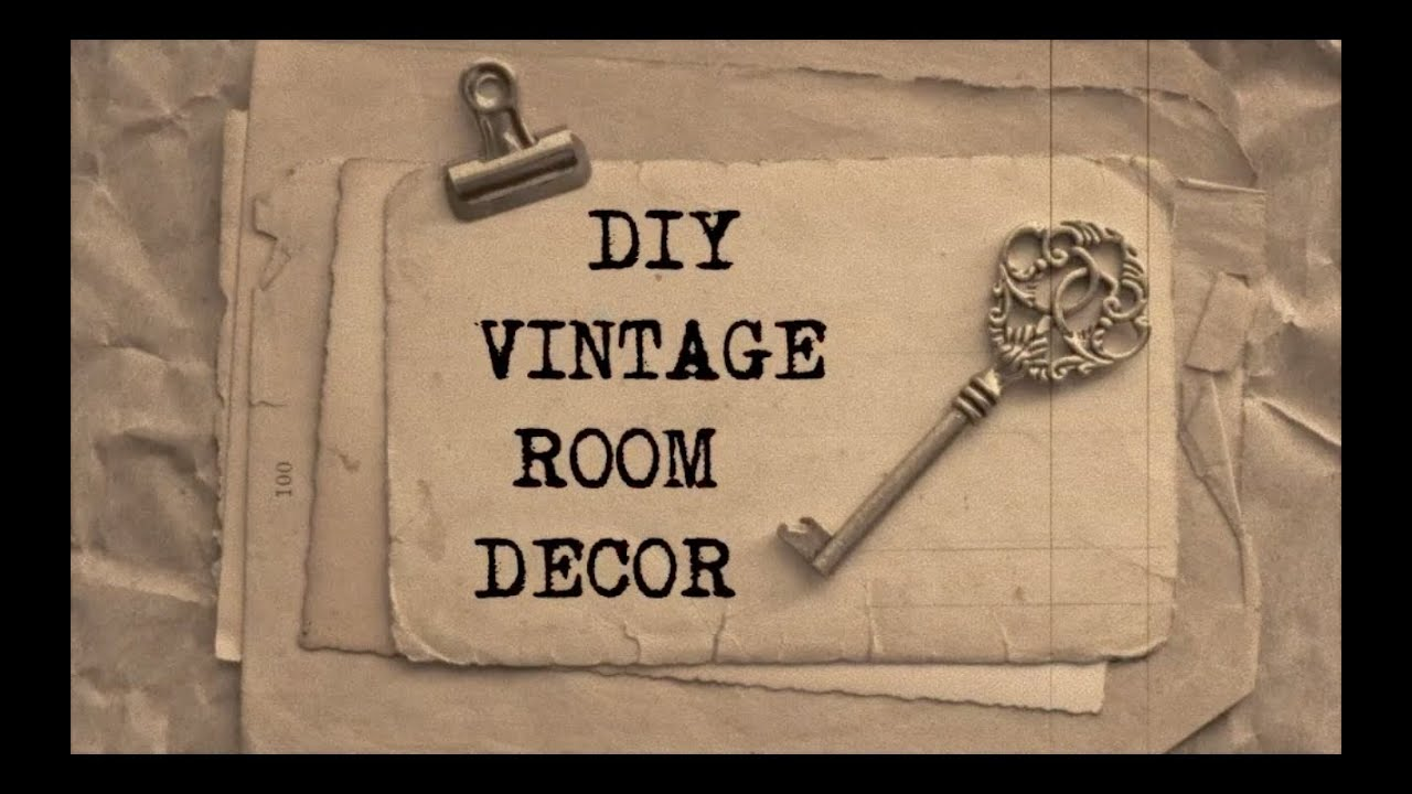 DIY Vintage Room Decor #2 | Haley \u0026 Bronwen - YouTube