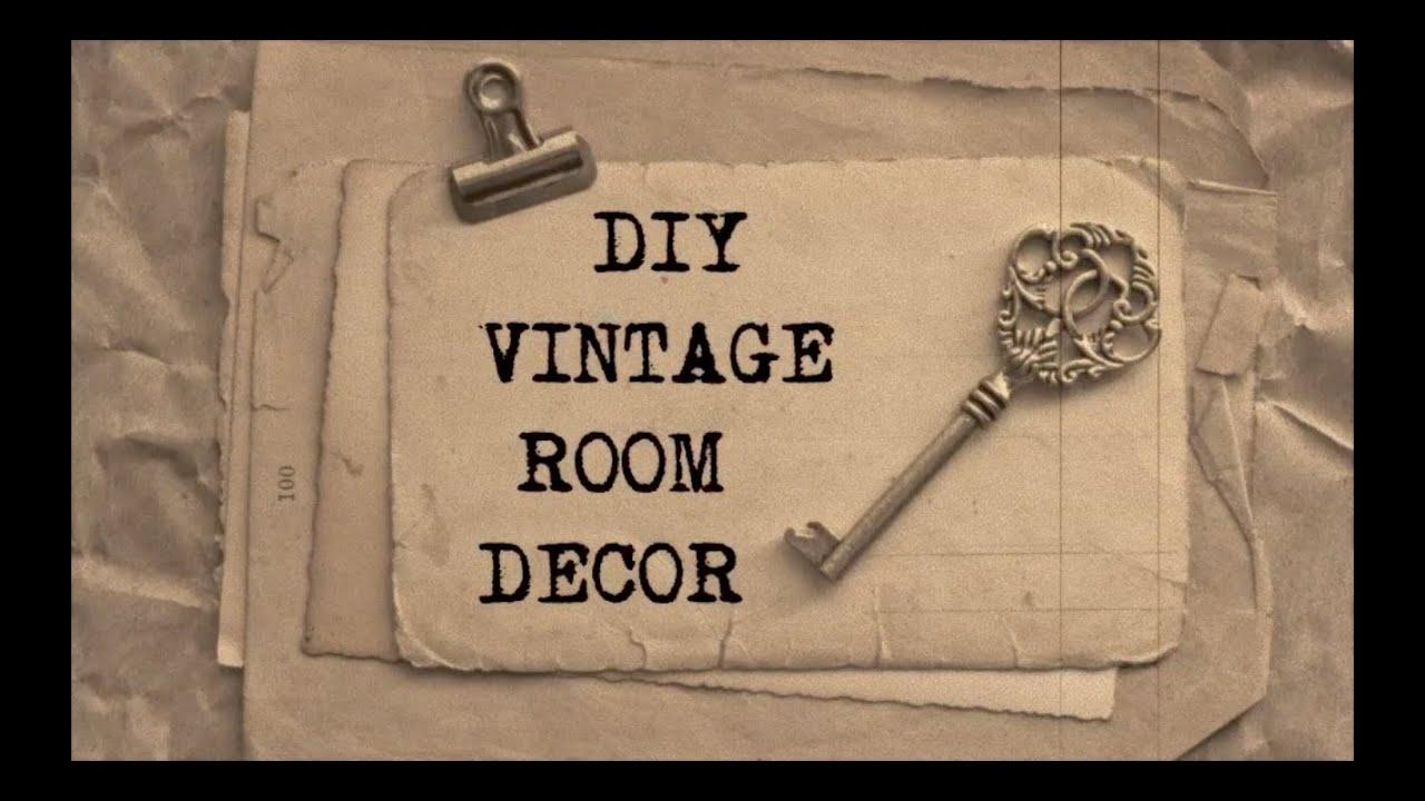DIY Vintage Room Decor #2 | Haley & Bronwen - YouTube