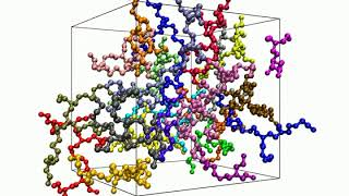 Polydisperse melt of branched polyethylenimine (PEI) chains