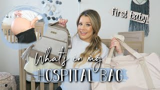 WHAT'S IN MY HOSPITAL BAG? + Diaper Bag | First Baby! 👶🏼 BUMP SHOT AT 37 WEEKS!