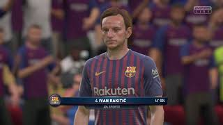 Gameplay FIFA 19 Juventus  VS Barcelona 2- 2 online