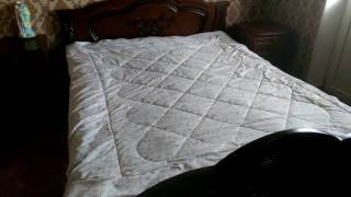 видео Одеяло АльВиТек 1,5-спальное КАШЕМИР ТЕПЛОЕ
