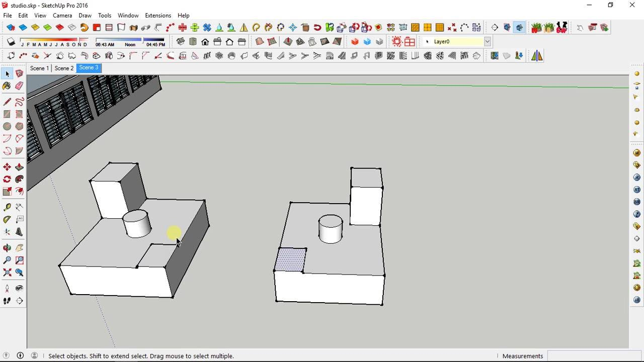 Sketchup mirror youtube for Mirror in sketchup