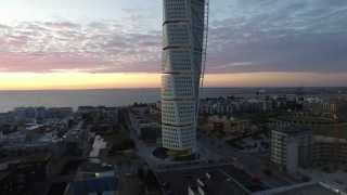 First Flight over Turning Torso Malmö Sweden