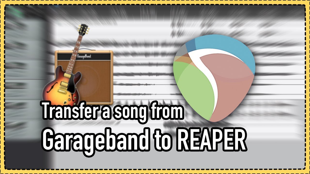 How to transfer a Garageband project to REAPER   The REAPER Blog