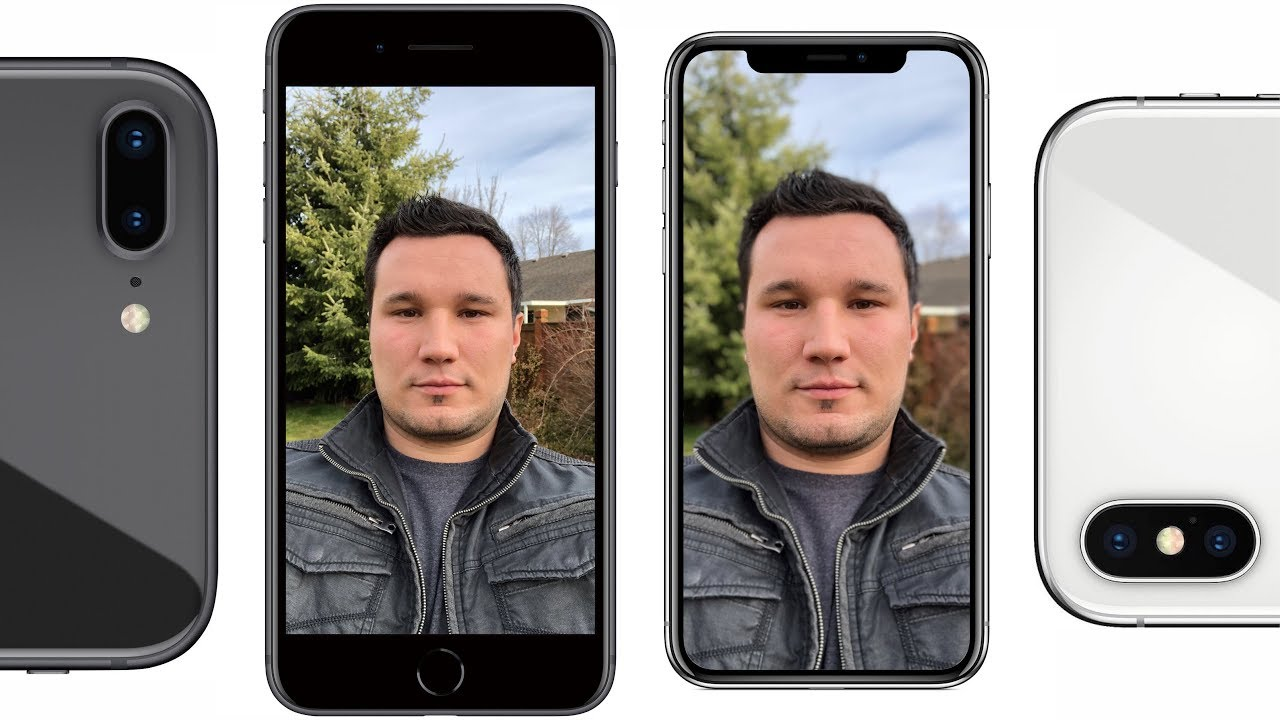 camara iphone 8 plus vs x
