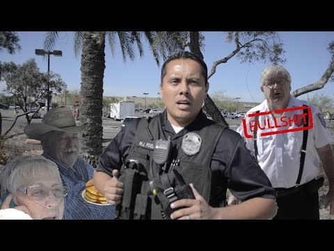 Security guard doesn't like freedom, wasting Tempe PD resources