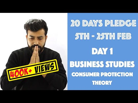 Day- 1 Consumer Protection - Theory - class 12th #20dayspled