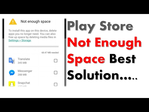 Not Enough Space Best Solution