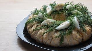Рождественский венок - оригинальное, вкусное блюдо для праздничного стола