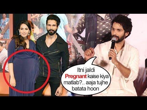 Shahid Kapoor TROLLS Reporter Making FUN Of Wife Mira Rajput Being PREGNANT Again