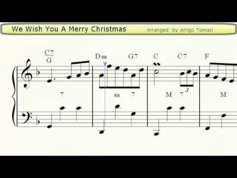 We Wish You A Merry Christmas  Accordion Sheet Music