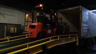 Мобильная рампа CAYRUS(Разгрузка фуры при помощи мобильной рампы (передвижной погрузочной эстакады). На видео представлена эстака..., 2013-05-28T10:08:42.000Z)
