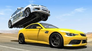 Crazy Police Chases #29 - BeamNG Drive Crashes