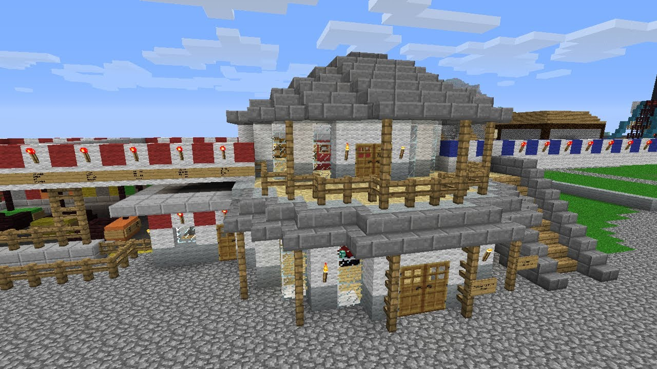 Minecraft Gift Shop Lockers Realistic Amusement Park Builds 11 Youtube