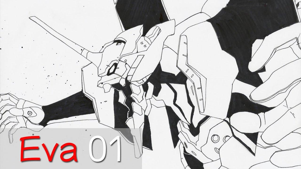 Como Dibujar Eva 01 de Evangelion  YouTube