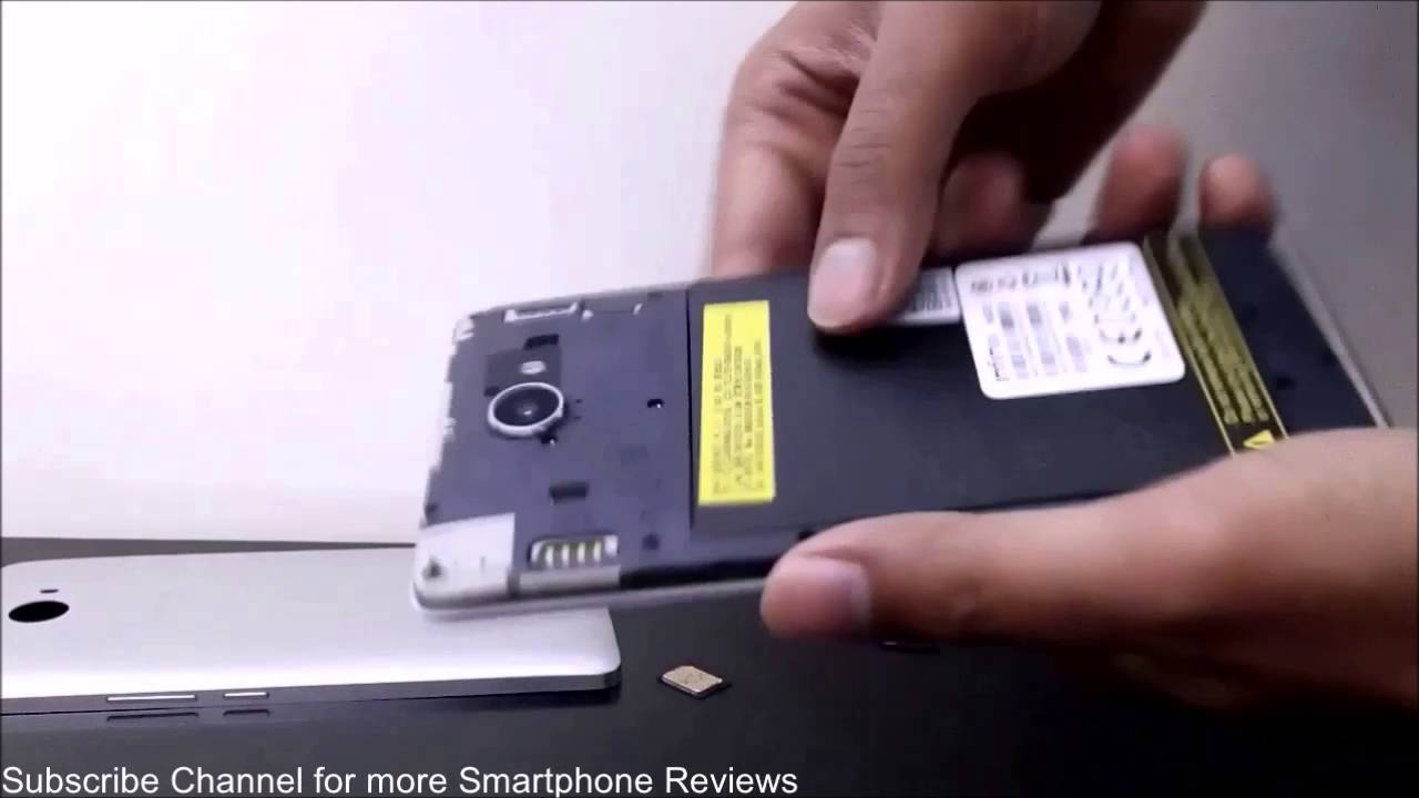 Infinix Note 2 X600 - How to Remove Back Cover to Insert Battery, SIM and  Micro SD Card