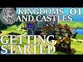 Getting Started : Kingdoms and Castles EP01 - Hard Mode Medieval City Builder Gameplay