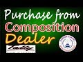 Purchase from Composition Dealer GST Tally ERP9 Part-23|Tally for GST