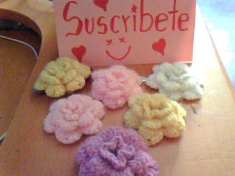 Como hacer una flor abultada a crochet en espa ol youtube - Como hacer flores ...