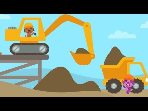 Videos Infantiles y Juegos.Excavadoras y Camiones.Sago Mini Divertido para Niños