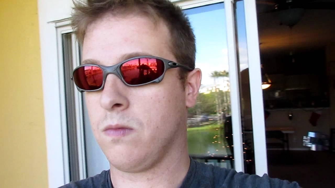 3e22c77fad8 Oakley Juliet X-metal Frame Ruby Quartz Cyclops lens - YouTube