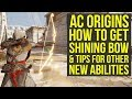 Assassin's Creed Origins SHINING BOW & Tips for other new Skills (AC Origins Curse of the Pharaohs)