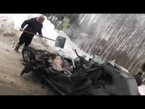 Страшная авария на автодороге Сургут - Нижневартовск. ХМАО.